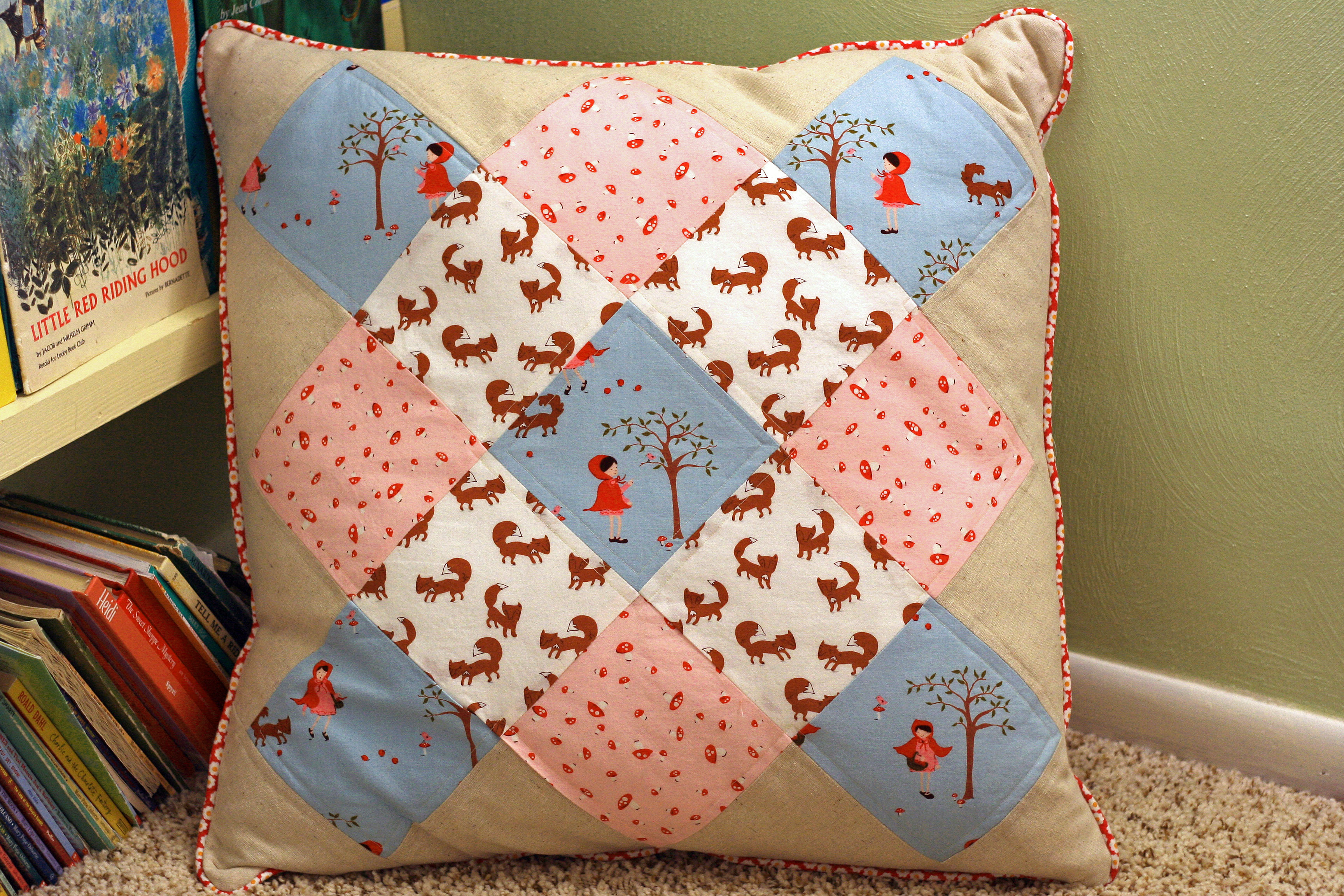 Floor Pillow for the Reading Nook Gingercake