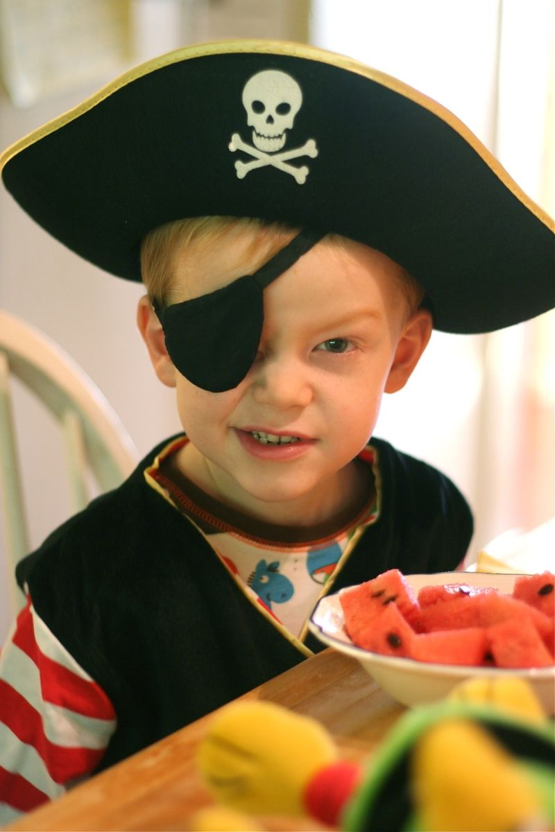 Pirate cal at breakfast