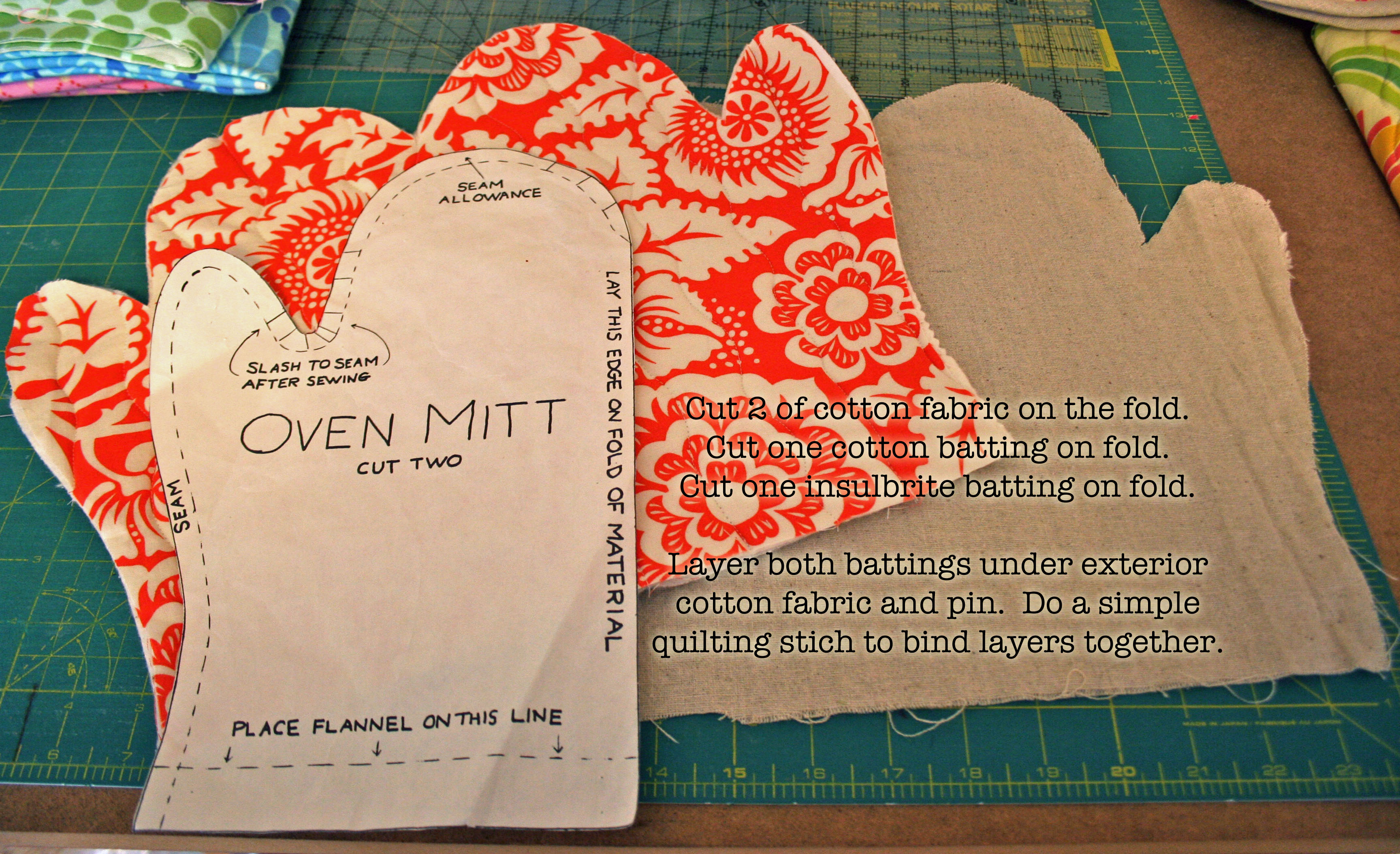 Free Patterns For Quilted Oven Mitts : Tutorial Oven Mitt found in a box of gifted fabrics Gingercake