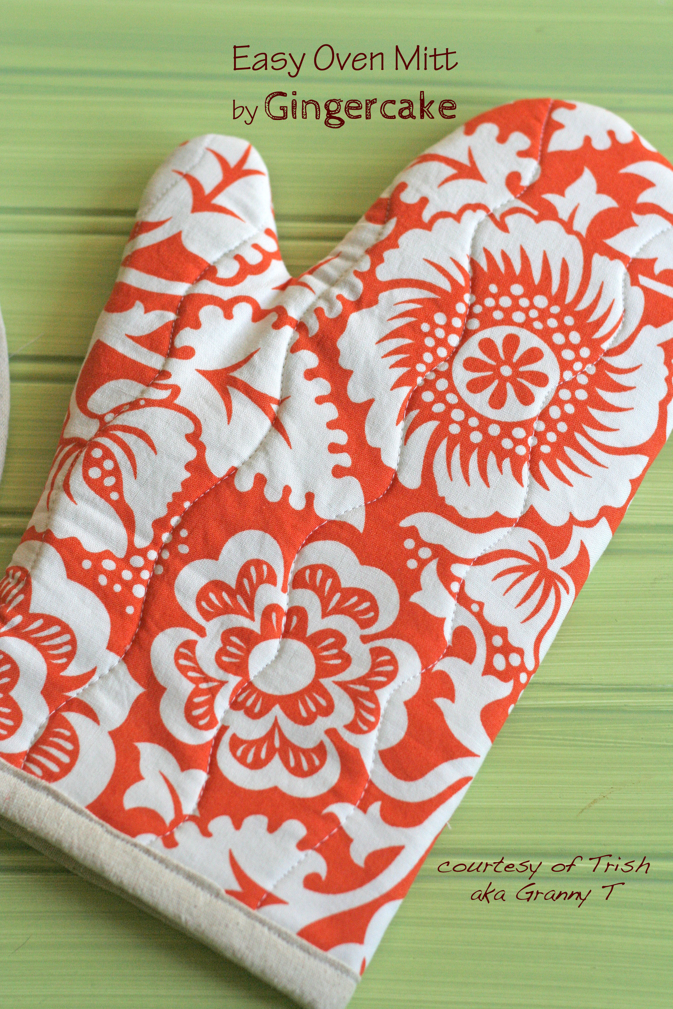 Tutorial Oven Mitt Found In A Box Of Gifted Fabrics Gingercake