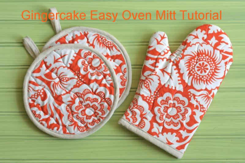 Gingercake Potholders & Mitt