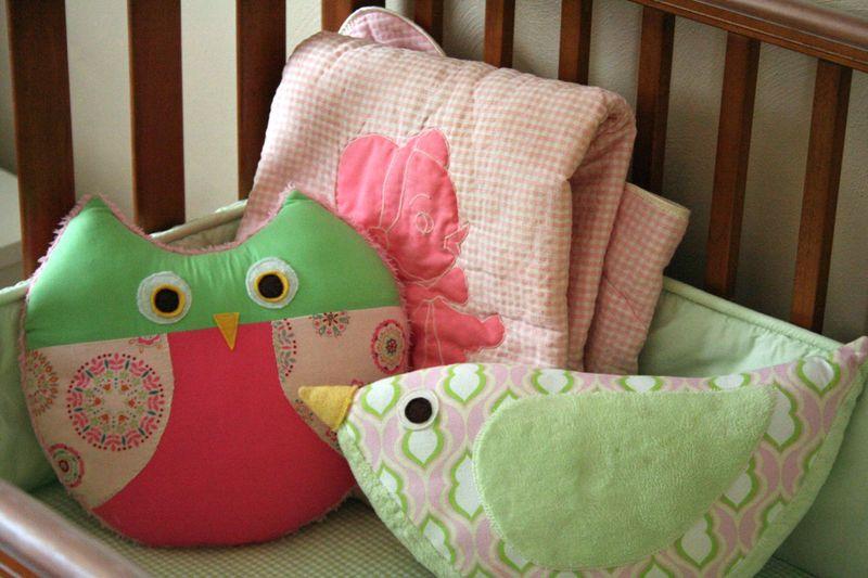 Gingercake Owl and Bird PIllow