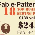 Sew Fab e-Pattern Sale!