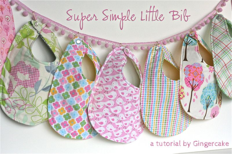Gingercake Super Simple Little Bibs