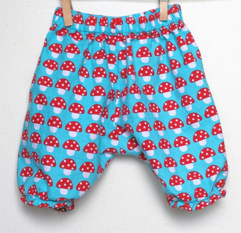 Gingercake's mushrrom baby pants