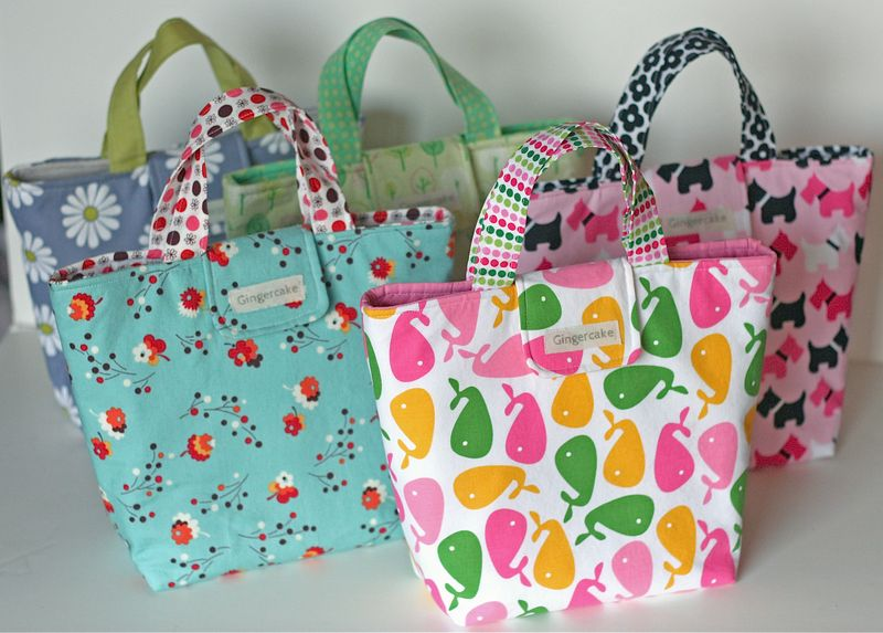 All five lunch bags