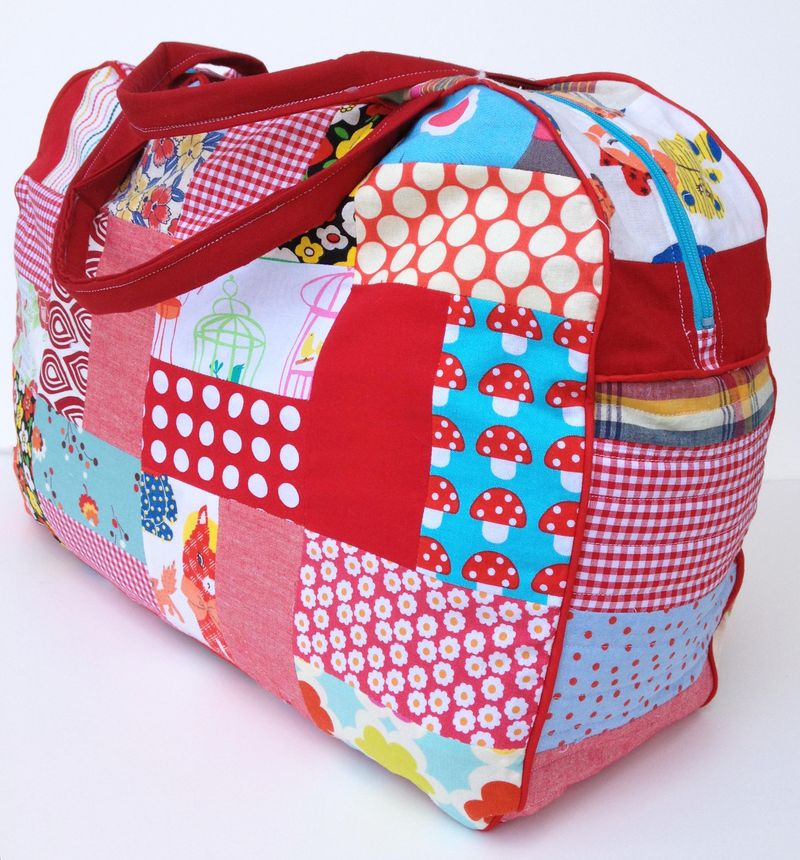 Gingercake Red Patchwork Duffle Side