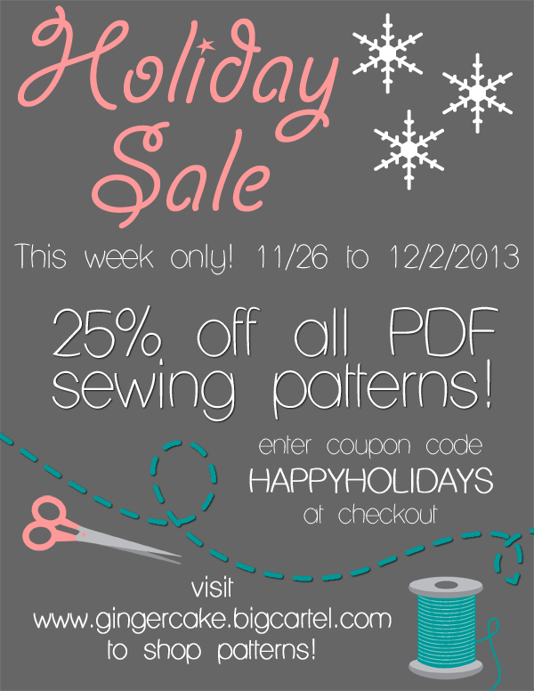 Holiday sale 2013