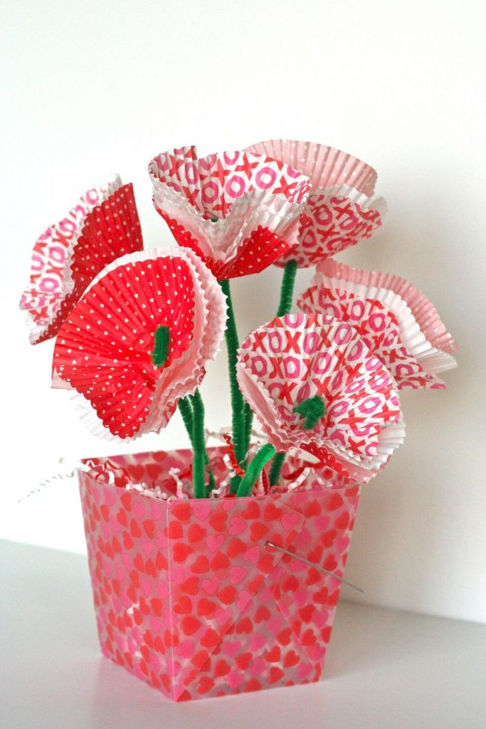 flower bouquet preschool valentine craft
