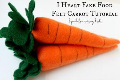 Felt carrot 151