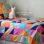 Simple HST Quilt in Solids