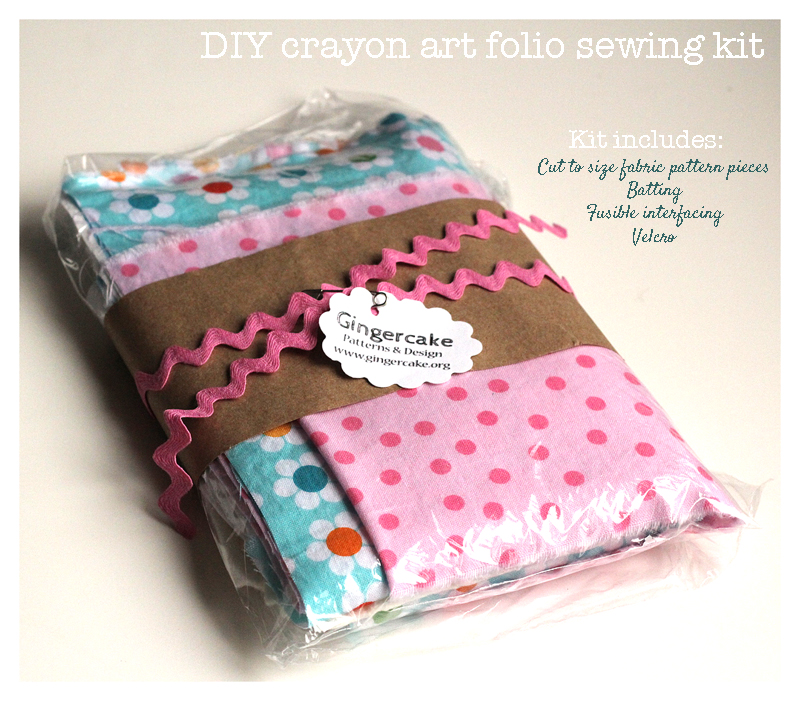 DIY Crayon Art Folio Sewing KIT:  Sew Mama Sew Giveaway DAY!