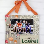 Remembering Camp Quilted Fabric Frame