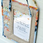 Quilted Fabric Frame Wedding Gift