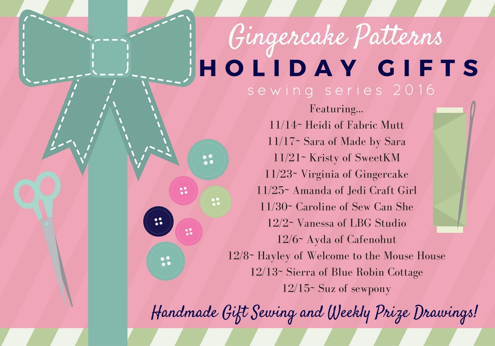 Week 3 of the Holiday Gifts Sewing Series Giveaway