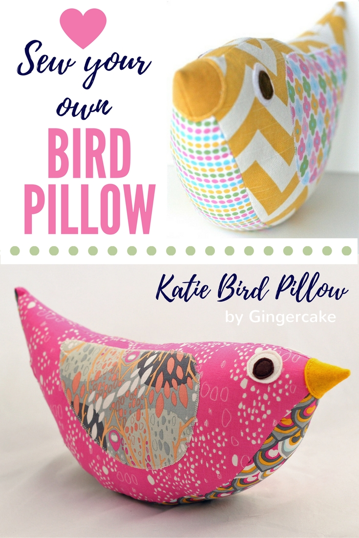 Katie Bird Pillow Sewing Pattern