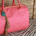 Classic Bowling Bag in Coral with Tassels