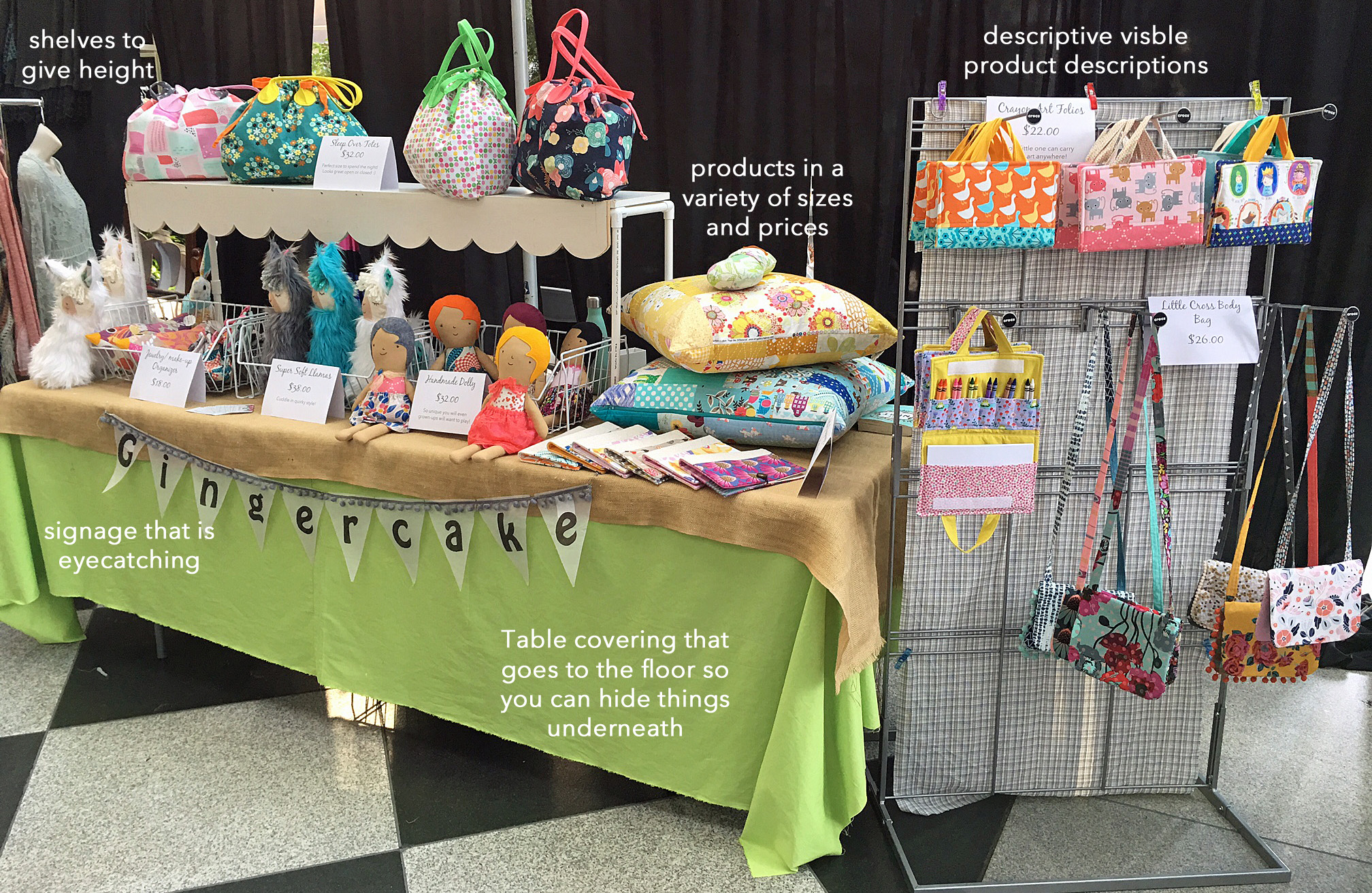 How to set up a Simple Craft Show Table that looks great!