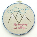 The Mountains are Calling Embroidery!