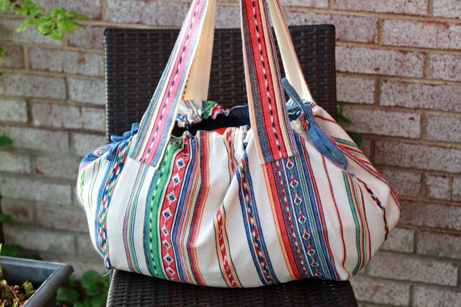 boho beach bag DIY