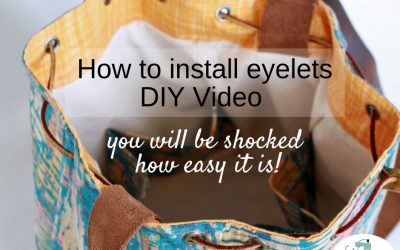 How to easily install eyelets