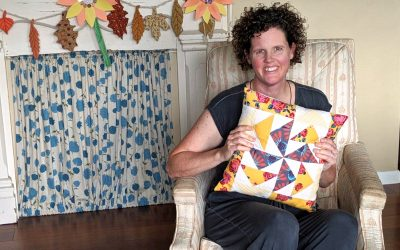 Simple Flying Geese Quilted Pillow Tutorial
