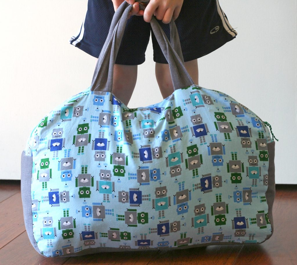 boys travel bag sewing pattern