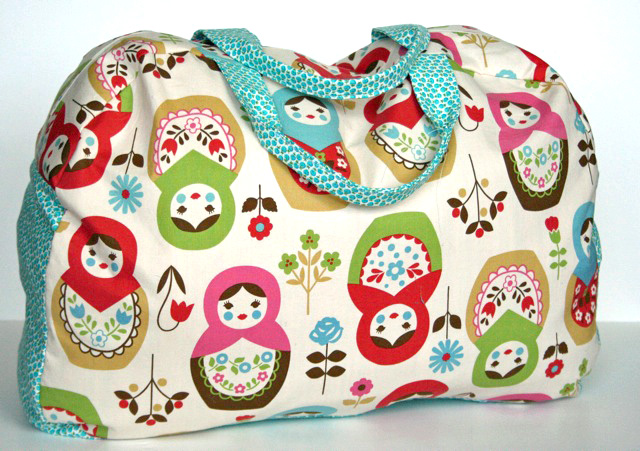 kids duffel bag handmade sewing pattern