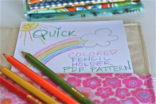 quick colored pencil organizer sewing pattern