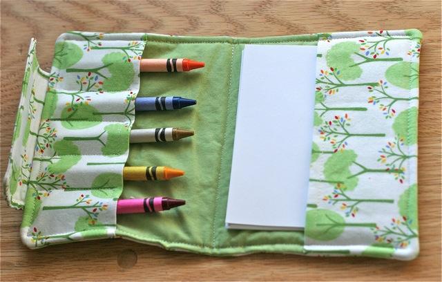 small crayon organizer sewing pattern