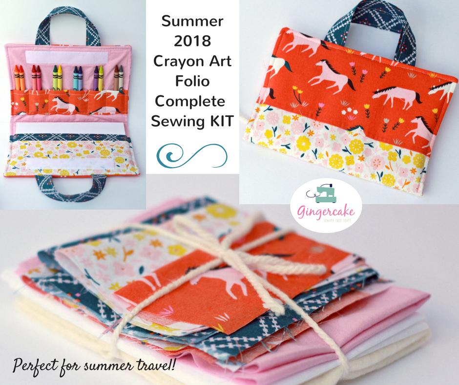 Crayon art folio organizer sewing kit horses