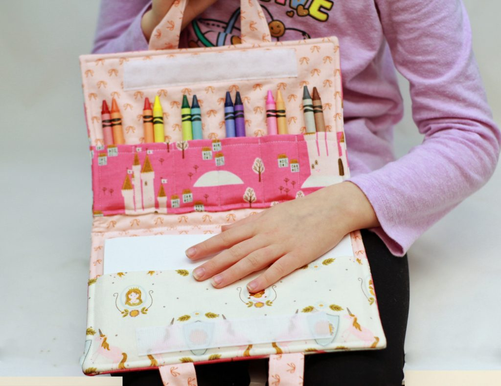 Princess Crayon holder folio sewing pattern