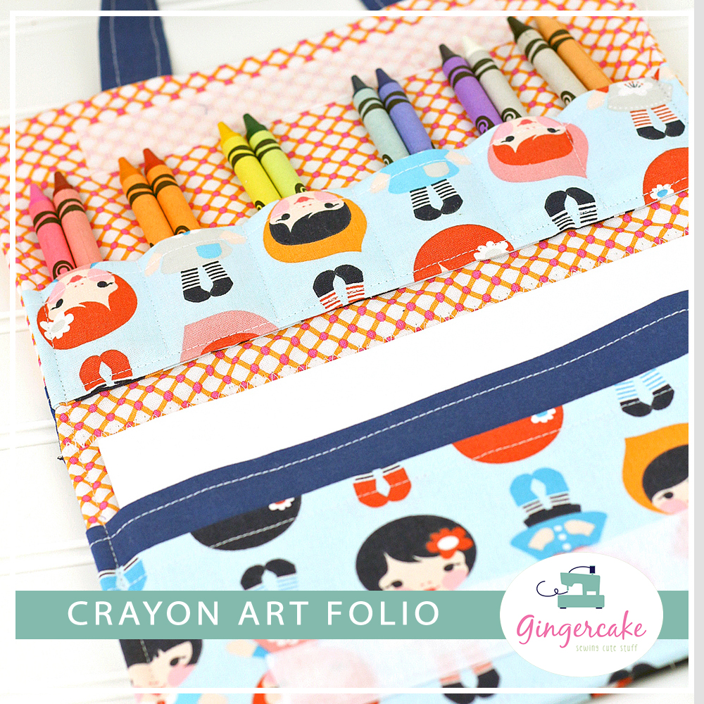 crayon organizer sewing pattern art folio