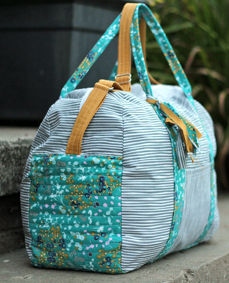handmade duffle bag sewing pattern