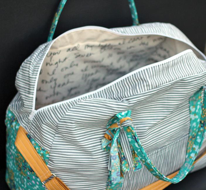 duffle bag custom sewing open