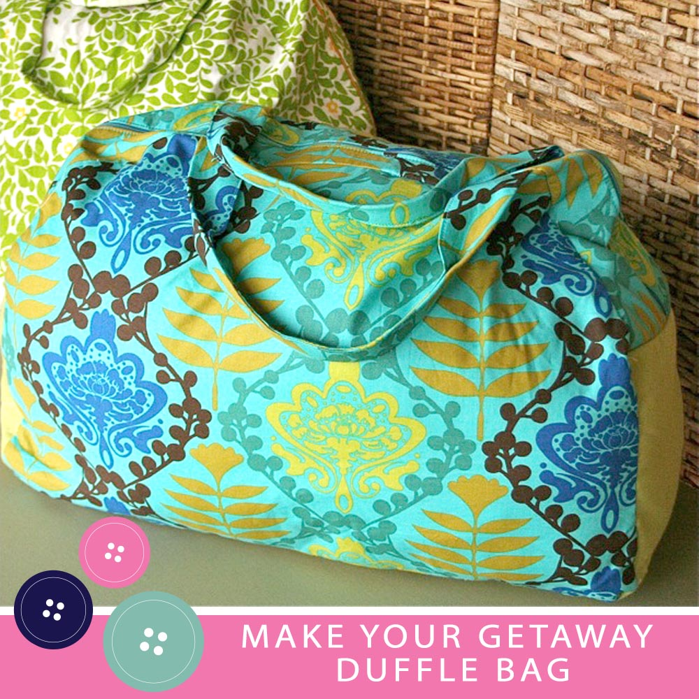 Gingercake Make Your Getaway Duffle Bag Sewing Pattern