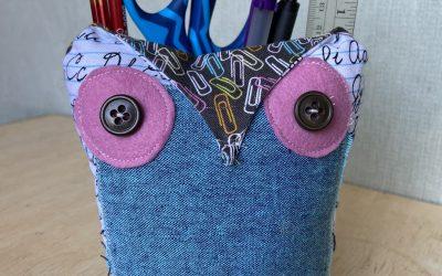 Little Owl Desk Caddy DIY
