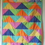 Color Block Triangle Quilt