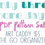3 more days of the Pattern Sale and some Font talk