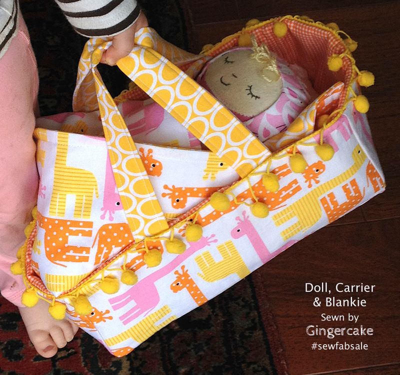 Nigh Nigh Time…  Doll, Carrier & Blankie for Sew Fab Sale