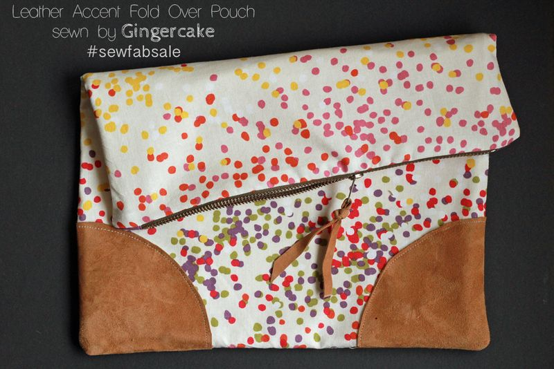 Leather Accent Fold Over Pouch for the Sew Fab Sale