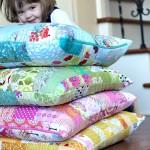Color Strip Scraps Floor Pillow