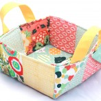 Colorful Patchwork Basket Craftsy Class by Caroline Critchfield