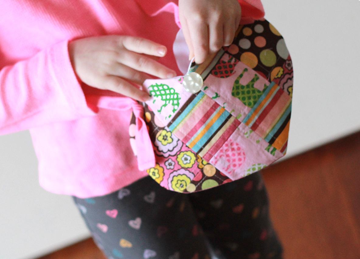 Patchwork Heart Bag Tutorial