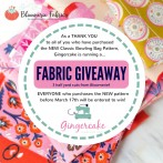 Fabric Giveaway!  Make Your New Bowling Bag in GORGEOUS designer style!