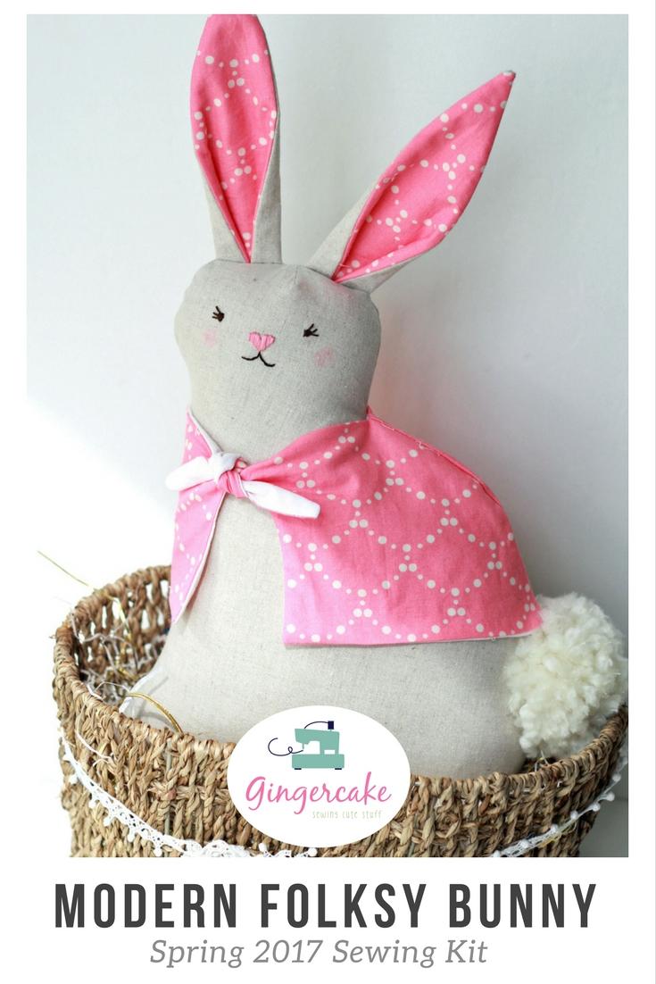 Modern Folksy Bunny 2017 Sewing Kit