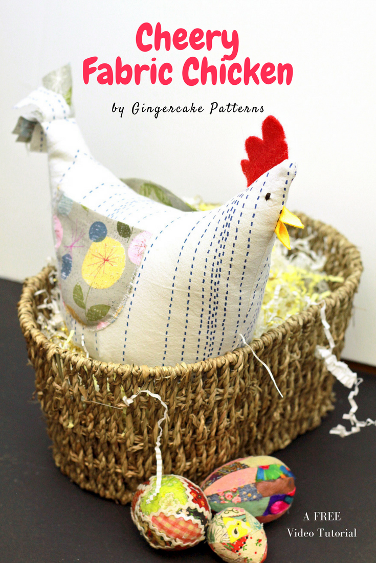 Cheery Fabric Chicken Tutorial