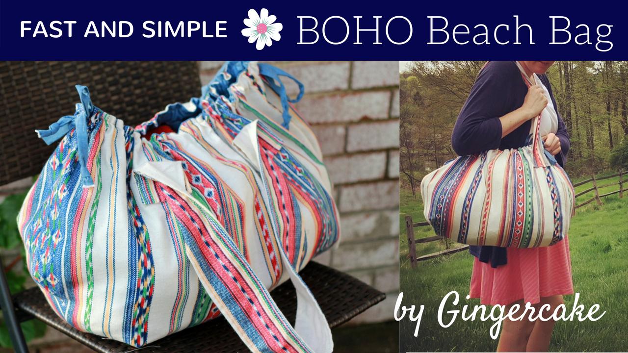 Boho Beach Bag Tutorial