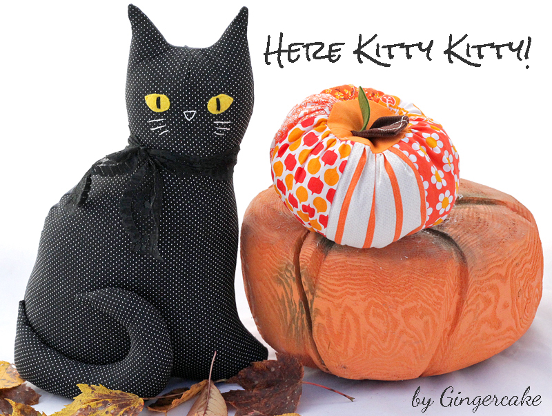 How to make the Black Kitty from the Modern Folksy Kitty Pattern