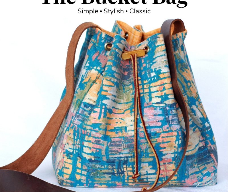 Gingercake Bucket Bag Pattern is now in the SHOP!